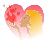 Flying Kiss - Vector Stock Image