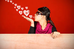 Flying kisses Stock Photography