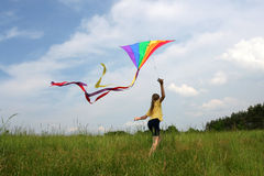 Flying kite