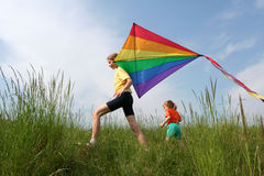 Flying kite Royalty Free Stock Photo