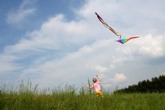 Flying kite royalty free stock photography
