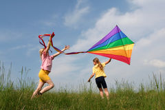 Flying Kite Stock Image