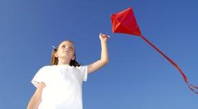 Flying a Kite stock photo