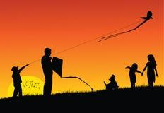 Flying Kite royalty free illustration