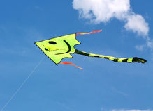 Flying kite in the blue sky Royalty Free Stock Image