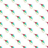 Flying kite pattern, cartoon style Stock Photography