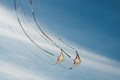 Flying kites Stock Photo