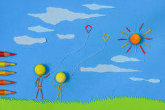 Flying kites Stock Photography