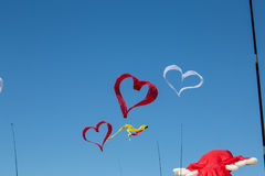 Flying kites Royalty Free Stock Images