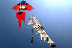 Flying kites Royalty Free Stock Photos