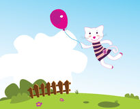 Flying kitten Royalty Free Stock Images