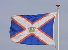 Flying KNRM flag, Ameland, Holland Stock Image
