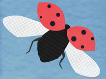 Flying ladybug application stock photos