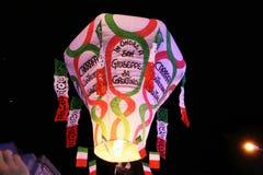 Flying lantern Stock Photography
