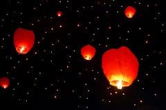 Flying lanterns Royalty Free Stock Photos