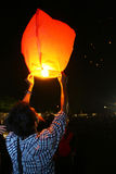 Flying lanterns Stock Photography
