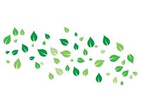 Flying leaves vector. Icon stock illustration