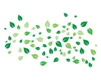 Flying leaves vector. Icon royalty free illustration