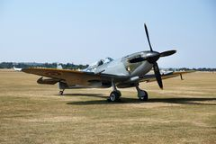 Late model Supermarine Spitfire. Flying Legends air show, Imperial War Museum, Duxford, Cambridgeshire. UK. 14-15 July 2018. Late model Supermarine Spitfire stock photography