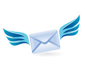 Flying letter - vector concept Stock Images