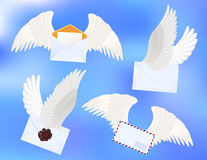Flying letters Royalty Free Stock Photos