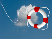 Flying life preserver for first help- this is a 3d render Stock Images