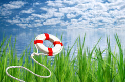 Free Flying Life Preserver For Help Stock Images - 5155024