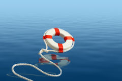 Flying life preserver for help Stock Photo