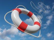 Free Flying Lifebelt For Help Stock Image - 13576151