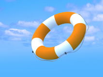 Flying lifebuoy Stock Photos