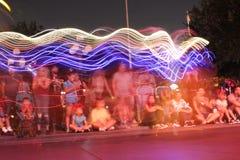 Flying light streaks Royalty Free Stock Photos
