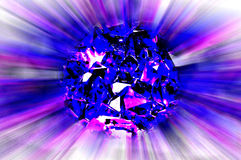 Flying lilac meteorite Royalty Free Stock Photos