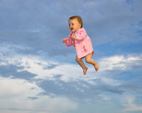 Flying little baby Stock Photography