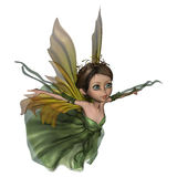 Flying Little Fairy Butterfly. 3D digital render of a beautiful flying little fairy butterfly isolated on white background Royalty Free Stock Image