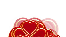 Flying love hearts, wedding background animation, valentine's day, alpha matte stock footage