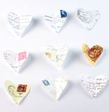 Flying love letters Stock Photography