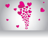 Flying love on valentine Royalty Free Stock Image