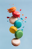 Flying Macarons Royalty Free Stock Image