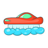 Flying machine icon, cartoon style Royalty Free Stock Photo