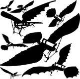 Flying Machine Vector 03. Flying Machine Based On The Leonardo da Vinci Antique Light Hang Glider Stock Photos