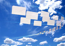 Flying mail Stock Photos