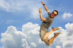 Flying man Royalty Free Stock Images