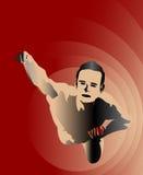 Flying Man. Illustration of flying man or superhero royalty free illustration