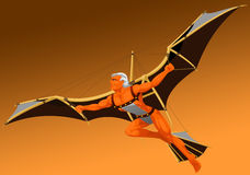 The flying man Stock Images