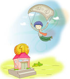 Flying man Stock Image