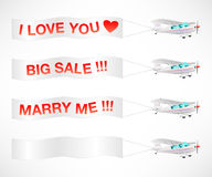 Flying messages Royalty Free Stock Image