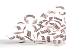 Flying Mexican Pesos Stock Images