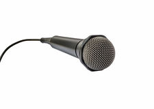 Flying microphone Stock Photos