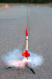 Flying Model Rocket Stock Image