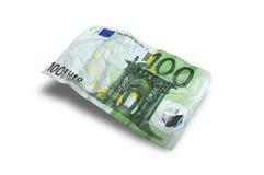 Flying Money. 100 euro on white background royalty free stock photography